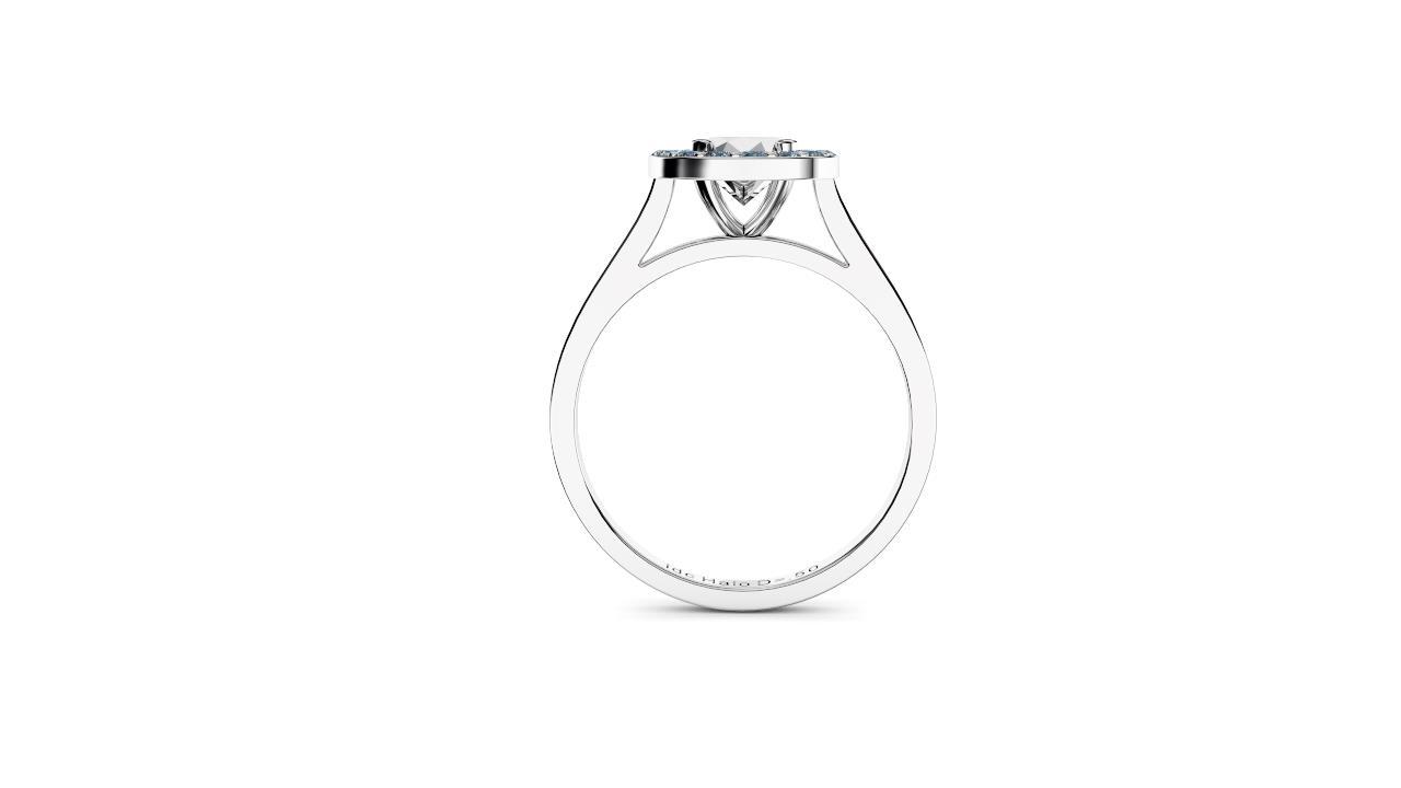 Brisbane diamonds halo round engagement ring front view