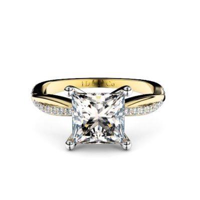 Brisbane diamond company princess diamond twisted vine ring